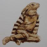 metamorphose-lapin-brou-de-noix-sur-carton-120x-80-cm-2016