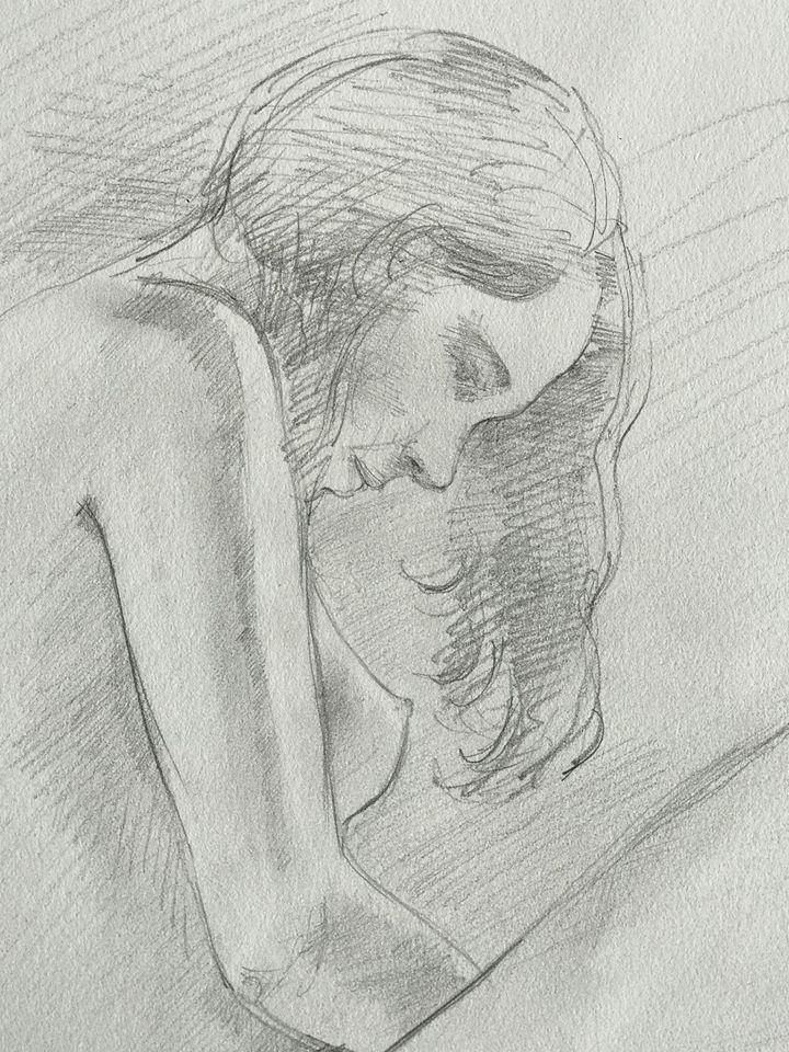 crayon gris sur papier